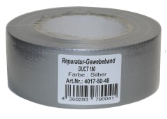 Priotec Duct Tape - silbergrau - 50m